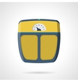 Flat icon for weigh scale vector image