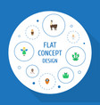 flat icons flying huge man mythology and other vector image vector image