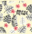 floral paradise tropic seamless pattern with vector image vector image