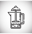 french press outline icon on white background for vector image