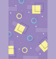 geometric halftone shapes memphis 80s 90s style vector image vector image