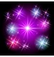 glowing stars vector image vector image