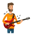 guitarist plays on the electric guitar vector image
