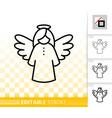 hanging angel simple black line icon