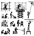 industrial cleaning services risky cleaner job vector image vector image