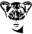 lioness girl catwoman vector image vector image