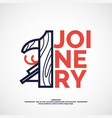 logo carpentry workshop vector image vector image