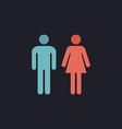 man and woman computer symbol vector image vector image