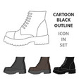 men brown shoes with thick soles shoes for vector image vector image