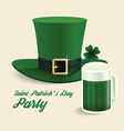 modern design Saint Patricks Day green hat vector image