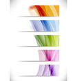 Modern swoosh wave bright cards set vector image vector image
