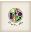 organic food badge logo stamp vector image vector image