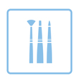 Paint brushes set icon vector image vector image