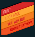 poster motivational quotation with orange vector image vector image