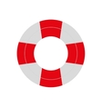red and white life buoy safety travel vector image