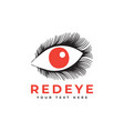 red eye graphic design template isolated vector image vector image