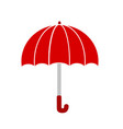 red umbrella on white stock vector image vector image