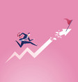 running towards goal business vector image vector image