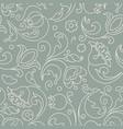 seamless pattern flowers in doodle style vector image vector image