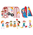 set of children playing vector image