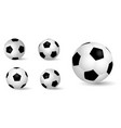 set realistic leather soccer ball or soccer vector image