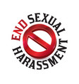 sexual harassment warning sign symbol vector image