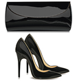Shoes and handbag vector image
