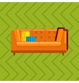 sofa in flat icons set vector image vector image