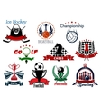 Sport and leisure icons or symbols vector image vector image