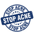 stop acne blue grunge stamp vector image vector image
