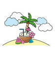 summer beach cartoon vector image