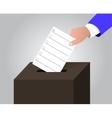 The ballot box vector image vector image