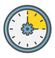 time management filled outline icon seo vector image