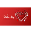 valentines day background abstract heart vector image vector image