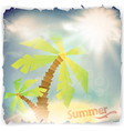vintage grunge summer background vector image