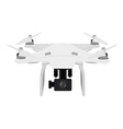 White quadcopter vector image vector image