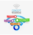 wifi infographic concept vector image
