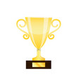 winner gold trophy cup isolated on white vector image vector image