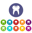 wisdom tooth icon simple style vector image vector image