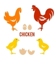 Chicken and egg set in vector image