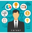 Career business and finance concept from flat vector image