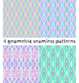 4 seamless geometric patterns in turquoise tones vector image vector image
