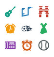 9 classic icons vector image vector image