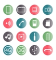 A set of mobile icons vector image vector image