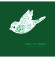 abstract blue and green leaves bird vector image vector image