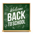 back to school banner classroom blackboard vector image