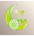 Background for Muslim Community Festival Ramadan vector image vector image