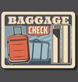 baggage on conveyor belt airport metal detector vector image