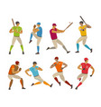 baseball players sport concept cartoon vector image