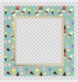 bashower invitation with ice cream background vector image
